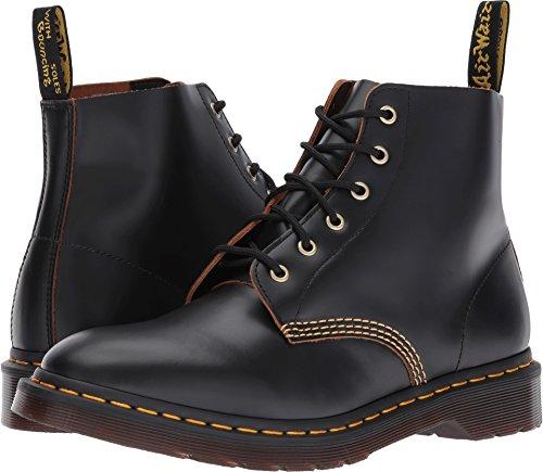 101 Air - Dr. Martens Men's 101 Arc Vintage Smooth 6-Eye Boots, Black, 12 M UK, 13 M US