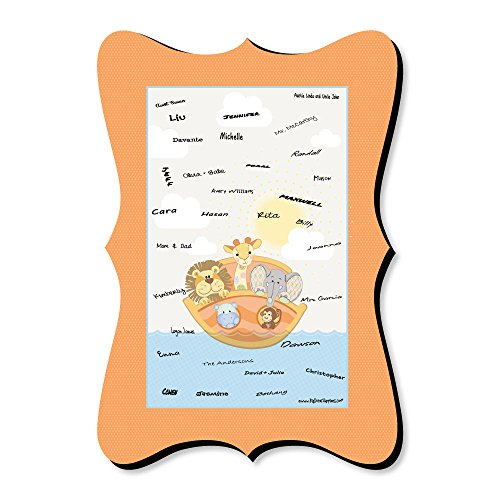 - Noah's Ark - Unique Alternative Guest Book - Baby Shower Signature Mat