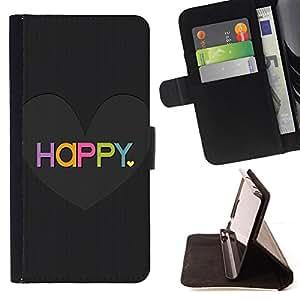 """For Samsung Galaxy J1 J100,S-type El amor del Corazón Negro cepillado colorido"""" - Dibujo PU billetera de cuero Funda Case Caso de la piel de la bolsa protectora"""