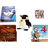 "Children's Fun & Educational Gift Bundle - Ages 6-12 [5 Piece] - Gigamic Quads Game - I Love Ice Cream 1000 Piece Puzzle - Melissa & Doug Penguin Large Plush 24"" - Vampyre: The Terrifying Lost Jour"