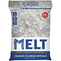 Snow Joe 25 Lb. Melt Calcium Chloride Crystals Ice Melter Resealable Bag