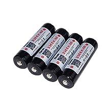 4pcs Hixon® 18650 Battery 3500mAh 3.7V 10A Li-ion Rechargeable Battery (Sanyo NCR18650GA cell)