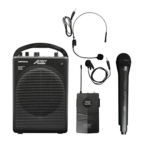 Audio 2000s Dual Channel Wireless Microphone Portable PA System AWP604DL by Audio 2000S
