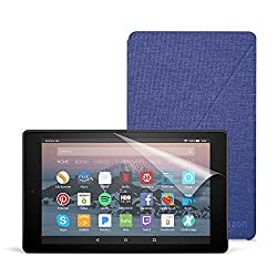All-New Fire HD 8 Essentials Bundle with Fire HD 8 Tablet (16 GB, Black), Amazon Cover (Cobalt Purple) and Screen Protector (Clear)