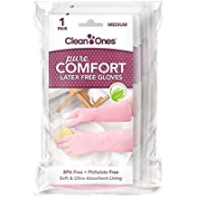 Clean Ones Pure Comfort Latex Free Vinyl Gloves - Medium 6pr
