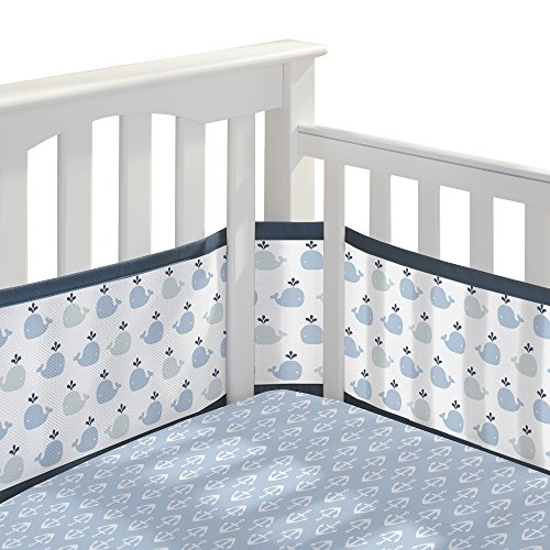Classic Crib Set - BreathableBaby 3pc Classic Crib Bedding Set - Little Whale Navy