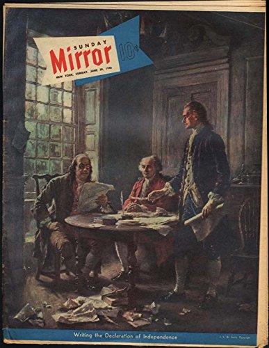 Georgette Mirror - NY SUNDAY MIRROR Magazine 6/30 1946 Georgette Windsor; Zita Miller