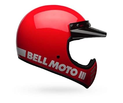 Bell Moto-3 Classic Red Open Faced Motorcycle Helmet Size Xsmall