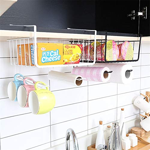 HeroStore Home Storage Tools Hook Type Kitchen Roll Paper Towel Holder Storage Rack Sundries Organizer Cabinet Cupboard Tissue Shelf by HeroStore (Image #4)