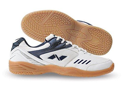 Nivia Mens Hy-Court Mesh PVC White Badminton Shoes