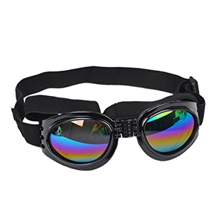 KAYI Gafas de Sol para Mascotas Gafas de Mascota con Protección UV Gafas Ajustables Gafas de
