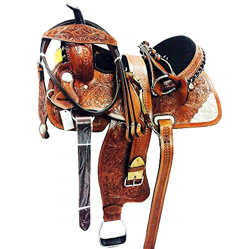 Great American M1-15″ Leather Barrel Racing Trail Pleasure Horse Saddle & TACK