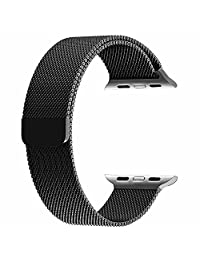 BRG Milanese Loop Stainless Steel Replacement iWatch Band for Apple Watch Series 1/2 - 42mm Black