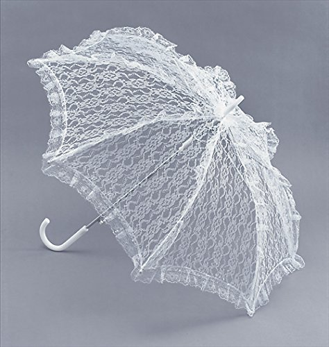(Bristol Novelty BA533 Parasol White Lace, Womens, One)