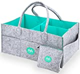 XL Baby Diaper Caddy Organizer with FREE Pouch - Nursery Organizing Basket For Baby Changing Essentials - Baby Shower Gift Idea and Toy Storage For Boys And Girls   MARI New York Image