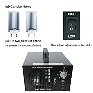 Concise Home 10000mg Commercial Ozone Generator Industrial Strength O3 Air Purifier Deodorizer Sterilizer