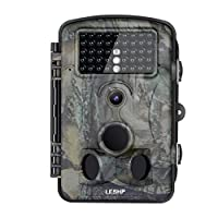 Hunting Trail Game Camera, LESHP Wildlife Video Security Camera 12MP 1080P HD 120 Degree Wide Angle Infrared Night Vision 42pcs IR LEDS 2.4 Inch LCD Screen Camera IP54