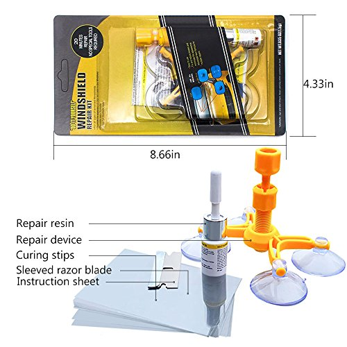 Mookis Windshield Repair Kit to Fix Car Cracks,Chips,Bull's Eyes and Starts by Mookis (Image #2)