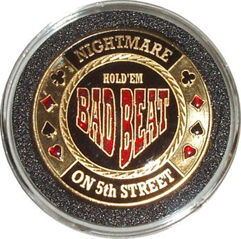 Hand Painted Poker Card Guard Protector - Bad (Bad Beat Poker)