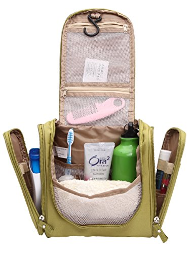 Hanging Toiletry Bag for Men & Women Rugged & Water Resistant with Mesh Pockets & Sturdy Hook Wash Bag 8800Lv