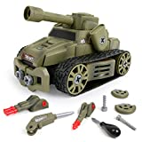 10-in-1 DIY Tank Toys Take Apart Military Vehicles for 3 4 5 6