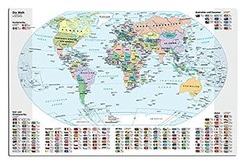 Schreibtischunterlage Grosse 68x44cm Weltkarte Amazon De