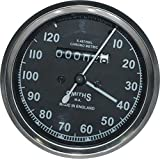 RS Vintage Parts RSV-B017BEM9QA-01389 Motorcycle Parts A67 Bike Replica Smith Speedometer Black 0-120 Mph Bsa Royal Enfied Norton