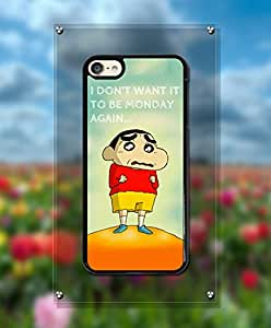 Cute Funda Case For IPod Touch 6th, Crayon Shin-Chan Cartoon Anti Scratch Distinctive Creative Unique Style Plastic & Cool Hard Shell Funda Case For IPod Touch 6th