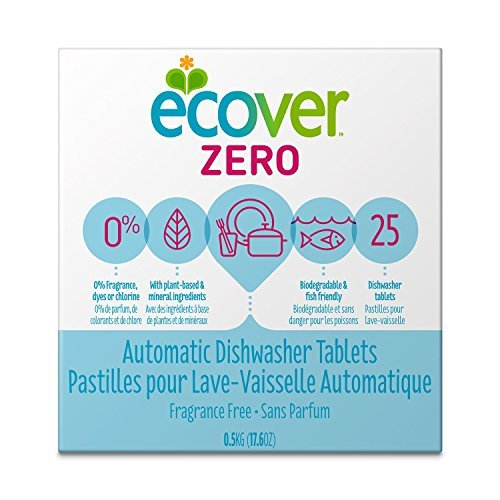 Ecover Ecover Zero 0% Automatic Dishwasher Tablets 25 tablets Natural Dishwashing Products - 3PC