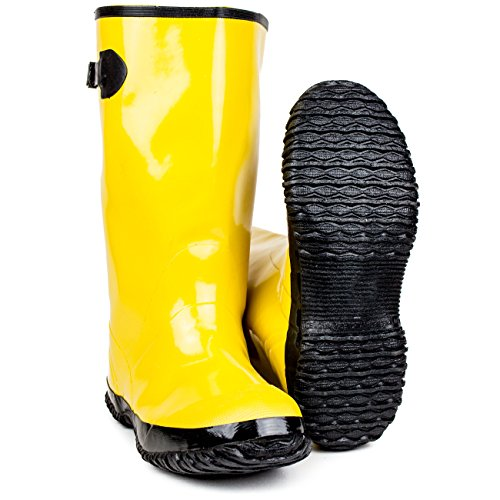 RK Safety RK-OVRSB-11 Over-The-Shoe Yellow Slush Boots, Size -
