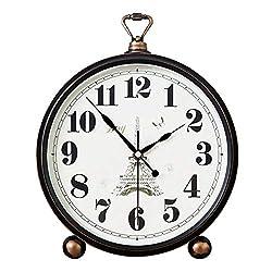 Mantle/Desk Clock Living Room Creative Desk Decoration Mute Clock Digital Clocks, 30×25cm