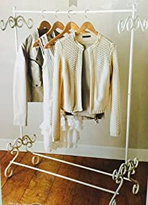 cream vintage look clothes rail by dy dx. Black Bedroom Furniture Sets. Home Design Ideas