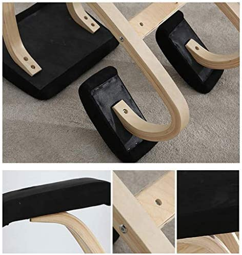 FyuFE Rocking Genoux Chaise, Chaise Bureau Ergonomique Orthopédique Tabouret Soulager Retour Neck Pain pour Améliorer La Posture Home Office Rocking Posture,Vert