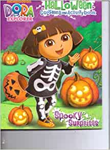 coloring pages dora halloween book - photo#34