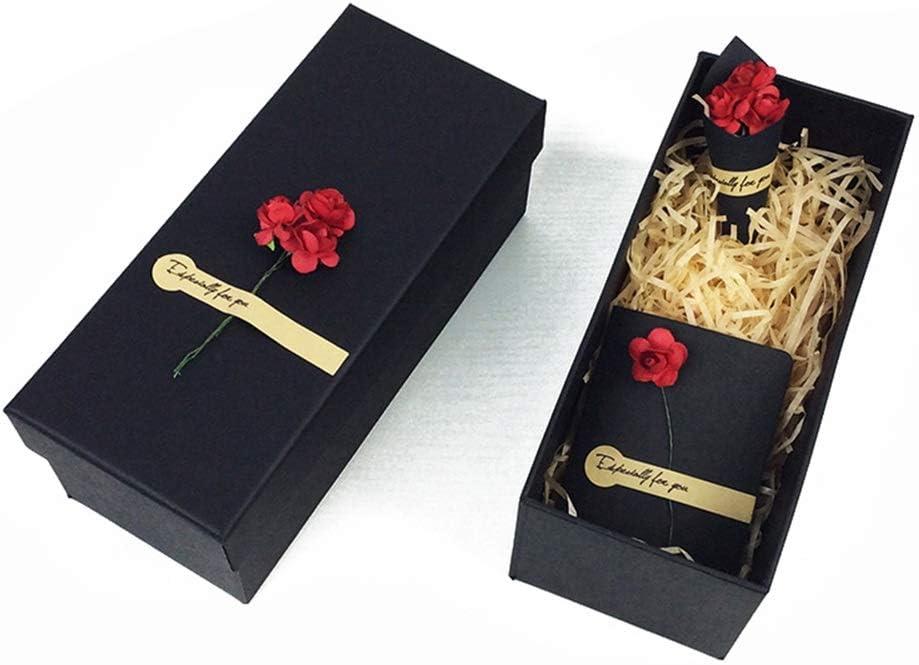 YIKEY-Caja de Regalo Pequeña Caja de Regalo de Rosa roja, cartón Rectangular, Caja de Taza de Regalo de cumpleaños de Navidad, con Bolsa de Regalo, Hierba Decorativa, 3 tamaños Opcionales: Amazon.es: Hogar