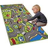 LargeKids Carpet Playmat Rug 32' x 52' with Non-Slip Backing, City Life Play Mat for Playing with Car Toy, Game Area for Baby Toddler Kid Child Educational Learn Road Traffic in Bedroom, Classroom