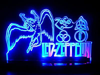 Led Zeppelin LED Desk Lamp Night Light Beer Bar Bedroom Game Room Signs