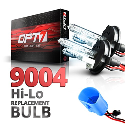 OPT7 2pc Blitz 9004 Hi-Lo Replacement HID Bulbs [10000K Deep Blue] Xenon Light