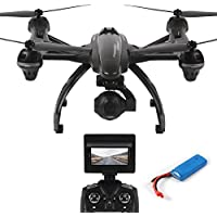 Dazhong JXD RC Quacopter 507G 5.8G FPV Drone with 2.0MP HD Camera Barometer Set High One-Key-return Headless 2.4G 4Ch 6-Axis RC Quadcopter + Extra 2pcs Batteries