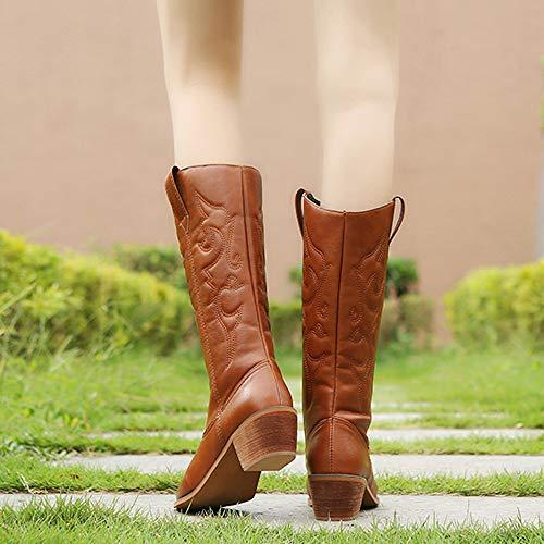 Pierna returom Alta Alto Martin Sólido Zapatos Otoño Plana Marrón Botines Casuales Plano Invierno Mujer Largas Altas Ante Negro Casual Largo Mujer De Color Botas EEZqWPvSw