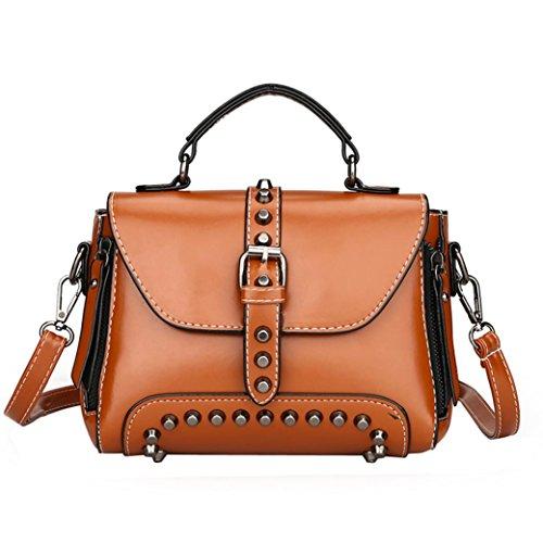 - Clearance Sales Fashion Rivets Top Handle Handbag Tote Bag Afterso Messenger Bags Casual Phone Bag Wallet Crossbody Bags Womens Girls Gift (20cm(L)10cm(W)15cm(H)/7.87(L)3.93(W)5.90(H)