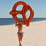 Kids Inflatable Swimming Pool Floats  -  Giant Pretzel Pool Floats Floating Beach Lounge Outdoor Toy by Hanmun,45''Diameter