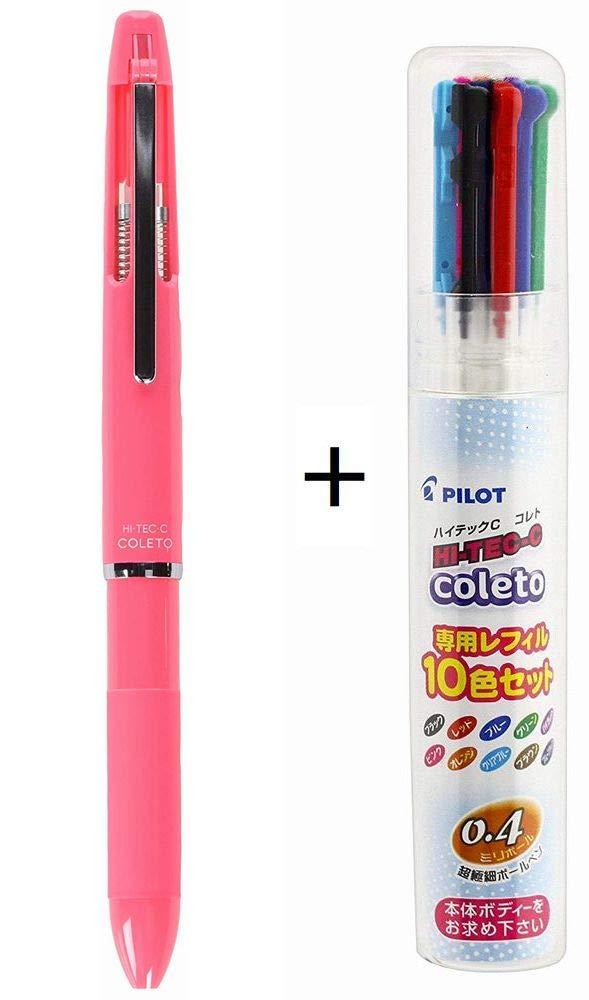 Pilot Multi-Pen Body Hi-Tec-C Coleto 500 Coral Pink Body ...