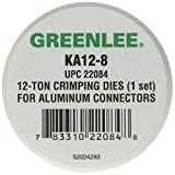 Greenlee KA12-8 Crimping Die for Greenlee 12-Ton Tools, Aluminum, 8 AWG