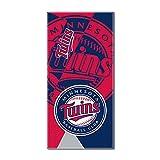 "MLB Minnesota Twins ""Puzzle"" Beach Towel, 34""x72"", Navy Blue"