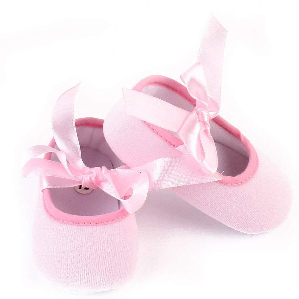 Goodtrade8 GOTD Newborn Baby Girls Soft Sole Crib Shoes and Crown Headband