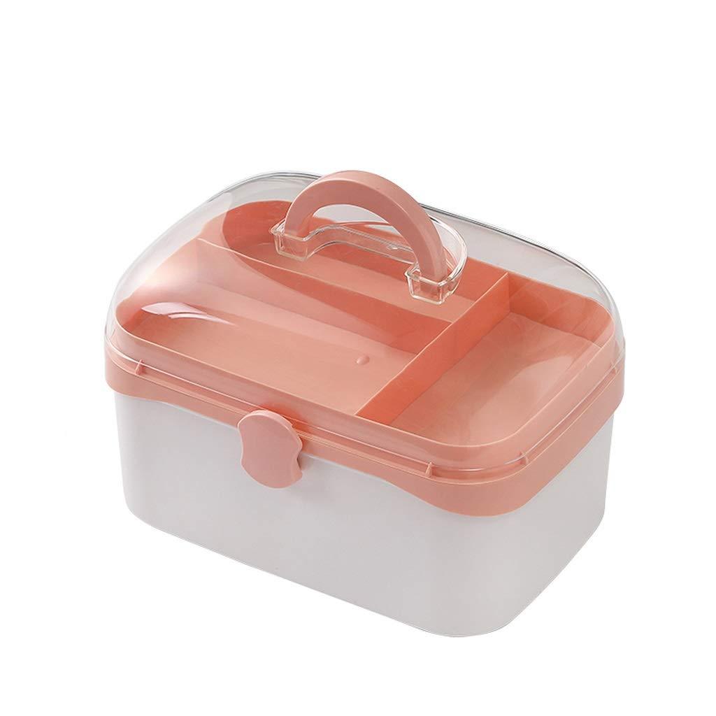 YBJPshop 応急処置キット 二重層の救急箱、家、旅行、キャンプ、オフィスおよび職場のための薬箱の貯蔵の雑貨箱 携帯用救急箱、旅行、家庭用品 (Color : M) M