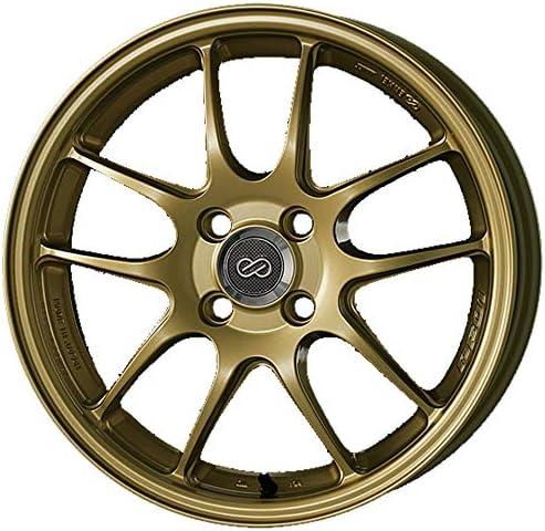 エンケイ (ENKEI) パフォーマンスライン PF01 (Performance Line PF01) 15インチ × 5J PCD100 穴数4 インセット45 カラー:ゴールド ホイール単品 (1枚)