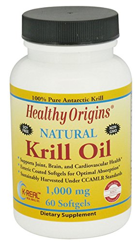 Healthy Origins Krill Oil 1000Mg - 60 Softgels, 2 Pack