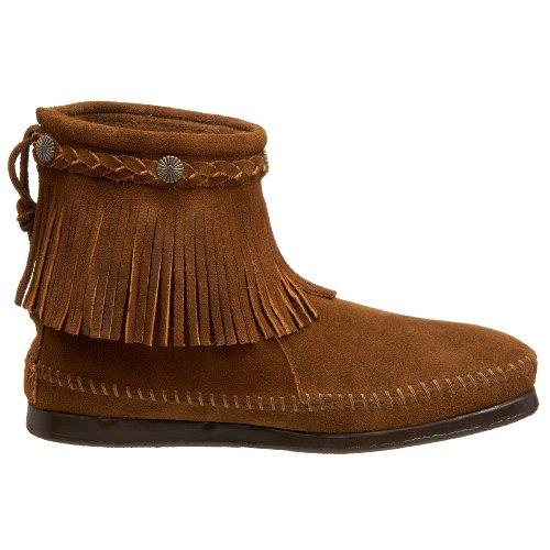 Boot 299 Back Brown Women's Zip Dusty Minnetonka xTIPqw